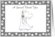 A Special Thank you from the Bride card