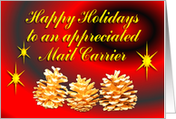 Mail Carrier Happy Holidays card