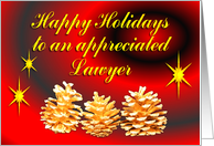 Lawyer Happy Holidays card