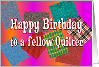 Happy Birthday Quilter card