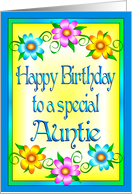 Happy Birthday Auntie Flowers card