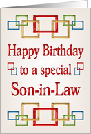 Happy Birthday Son-in-Law, Colorful Links card