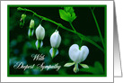 With Deepest Sympathy -- White Hearts card