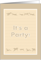 Paw Prints Birthday Party Invitation card