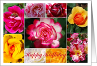 Rose Collage Gardener's Happy Birthday card