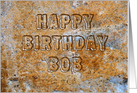Stone Age Happy Birthday Bob card