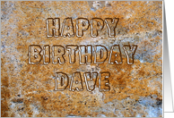 Stone Age Happy Birthday Dave card