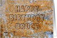 Stone Age Happy Birthday Bruce card