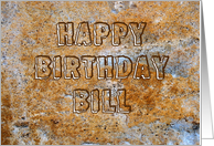 Stone Age Happy Birthday Bill card