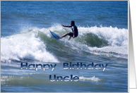 Happy Birthday Surfer Uncle card