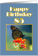 Happy Birthday 85th Monarch Butterfly card