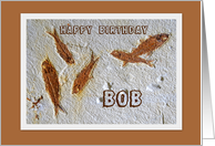 Bob Happy Birthday Fossil Fish card