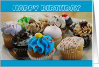 Happy Birthday Cupcakes Cooking Hobby card