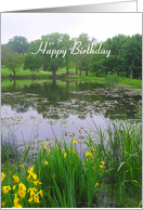 Happy Birthday Potter Lake Kansas card