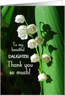 Thank You Lily of the Valley To Daughter card