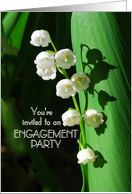 Wedding Engagement Party Invitation Lily of the Valley card