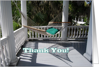 Thank You for Your Hospitality, Hammock on the Veranda card