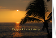 Happy Anniversary Hawaiian Sunset card