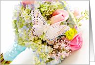 Welcome to the family daughter in law (Bouquet with butterfly) card