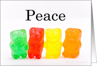 Peace-Rainbow of gummies card