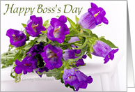 Happy Boss's Day from employees(purple bouquet) card