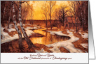 Vintage Thanksgiving - Cabin by the Stream card