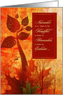 Thanksgiving Gratitude Autumn Foliage and Trees card