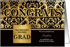 Bachelor of Arts Degree Grad in Faux Gold Foil - Custom card