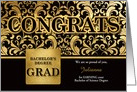 Bachelor of Science Degree Grad in Faux Gold Foil - Custom card