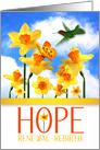 Hope Renewal Rebirth Encouraging Words with Daffodils card