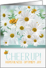 Cheer Up Encouragement with a White Daisy Garden card