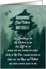for Step Father on Father's Day Forest Green Woodland Theme card
