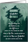 for Godfather on Father's Day Forest Green Woodland Theme card