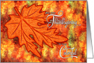Thanksgiving - Maple Leaf with Rich Autumn Colors card