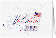 Custom Military Valentine's Day - Embossed Look card