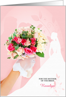 Mother of the Bride Custom Congratulations - Pink Roses card