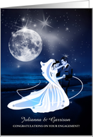 Congratulations on your Engagement - Dancing Beach Moonlight card