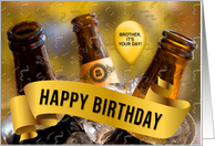 Brother's Birthday - Bucket of Beer Custom Front card