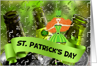 Happy St. Patrick's Day - Bucket of Green Beer card