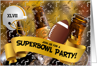 Superbowl Party Invitation - Beer in a Bucket card