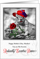 for a Red Hatter on Mother's Day Funny Squirrel card