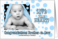 for Brother-in-Law on Becoming a Daddy Blue Congratulations card