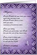 Custom Hospice End of Life for a Friend Sentimental Purple card