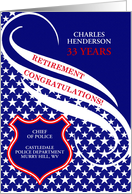 Custom Law Enforcement Retirement Congratulations card