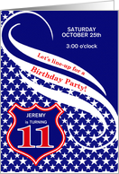 Custom Age 11 Birthday Party Invitation - Law Enforcement Theme card