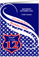 Custom Age 12 Birthday Party Invitation - Law Enforcement Theme card