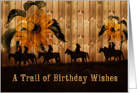 Birthday Western Sunflowers and Cowgirls Across the Miles card