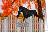 I Love You Horse and Cat with Autumn Color card