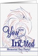 Memorial Day Party Invitations - Patriotic American Eagle card
