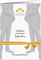Custom Wedding Congratulations - Two Grooms Gay Wedding card